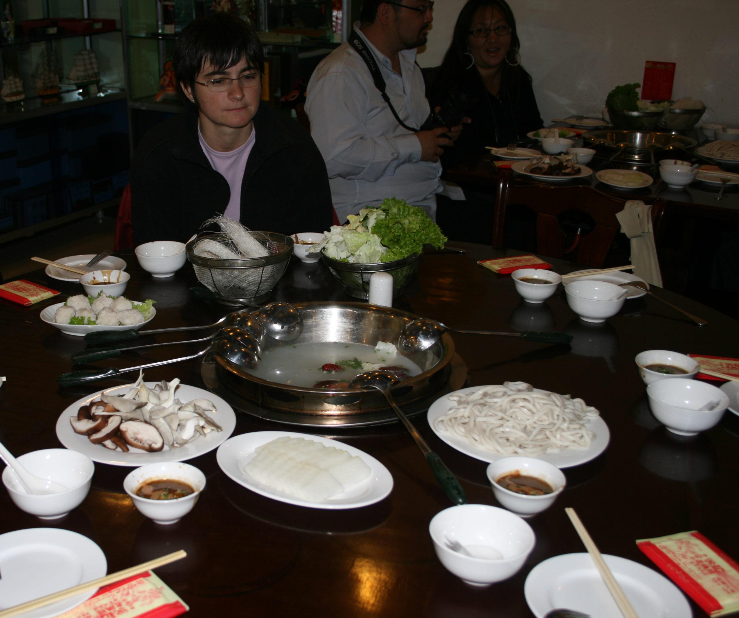 Fondue chinoise (hot pot)