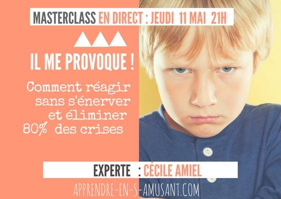 Masterclass 1 - Cécile Amiel - Il me provoque