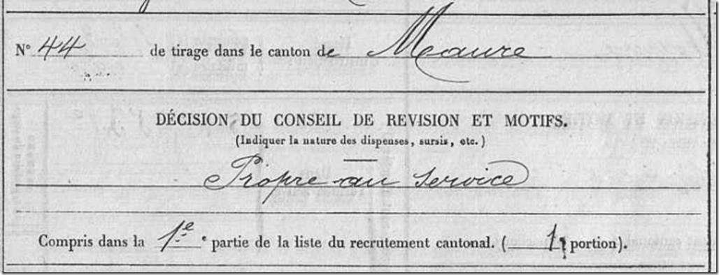 Décision du conseil de révision 1882