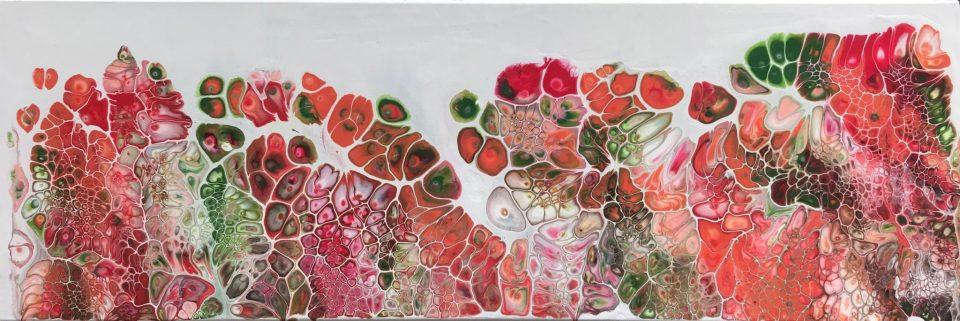 termes et notions de peinture : acrylique pouring