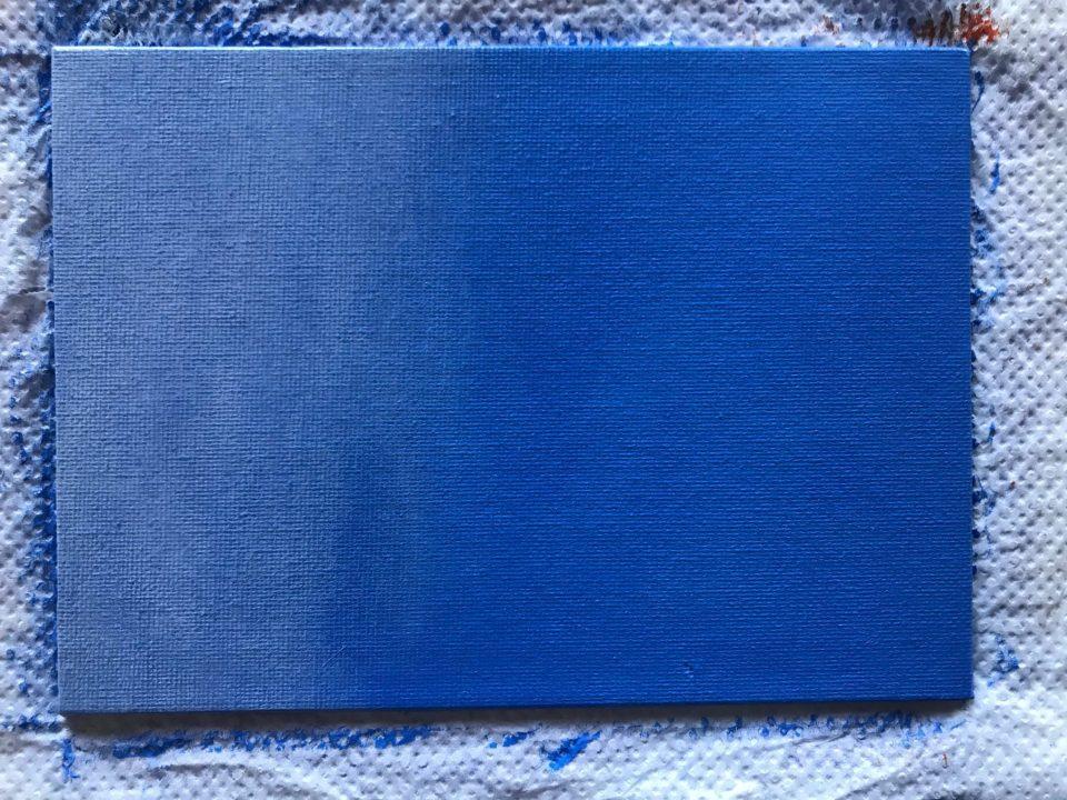 Réalisation d'un dégradé aléatoire de Bleu avec du Blanc de Titane rendu transparent par du retardateur
