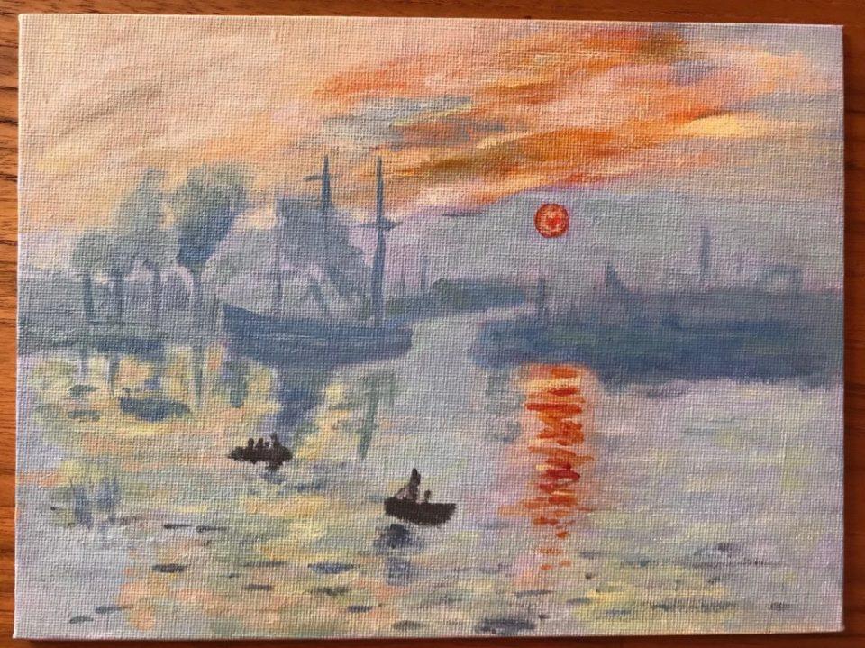Impression, soleil levant - Reproduction d'après Claude Monet