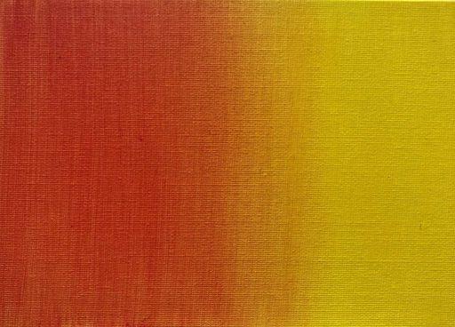 Fondu jaune orangé, une des techniques de peinture difficile à réaliser à l'acrylique