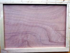 Plaque en Bois avec cadre de 60 x 80 x 3 cm