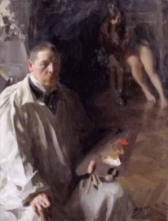 Anders Zorn, Autoportrait, huile sur toile, 1896. Nationalmuseum, Stockholm, Suède © Photo Nationalmuseum Zorn possèdait la palette de couleurs la plus réduite