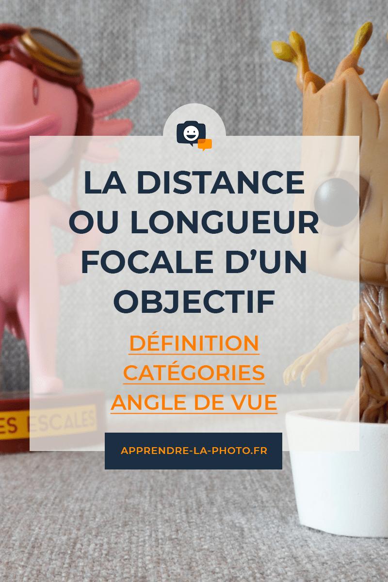 La distance / longueur focale d'un objectif