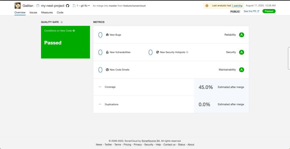 Analyser la qualité et la sécurité de votre code avec SonarCloud 10