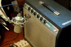 Prise son ampli guitare avec micro