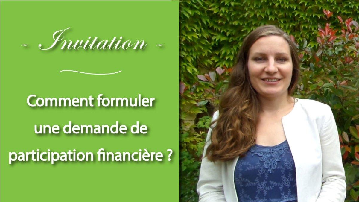 Carton d'invitation : comment formuler une demande de participation financière à ses invités ?