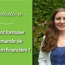 demande de participation financière carton invitation usages politesse
