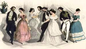 danse comment on invite danseuse liselotte bal réception 19e siècle époque victorienne protocoel danses soirée jeunes carnet de bal