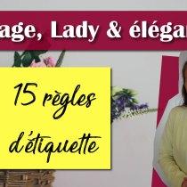MARIAGE, Lady & élégance : 15 règles d'or à suivre