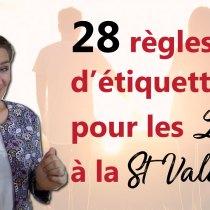 LADY : 28 règles d'ÉTIQUETTE pour être chérie par votre mari à la St Valentin