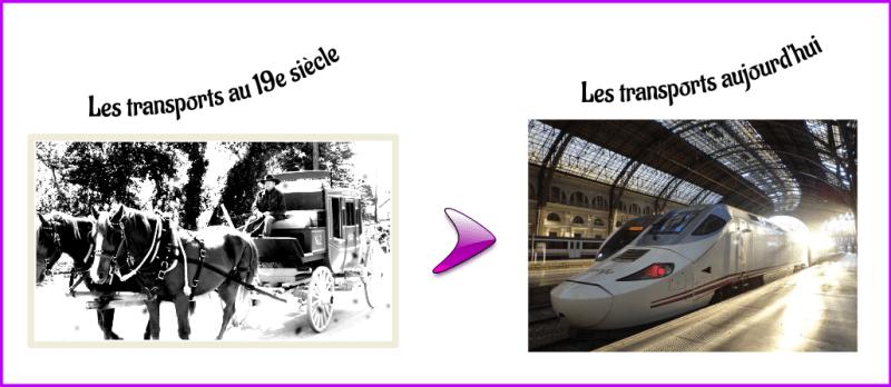 Les transports au 19e siècle et aujourd'hui
