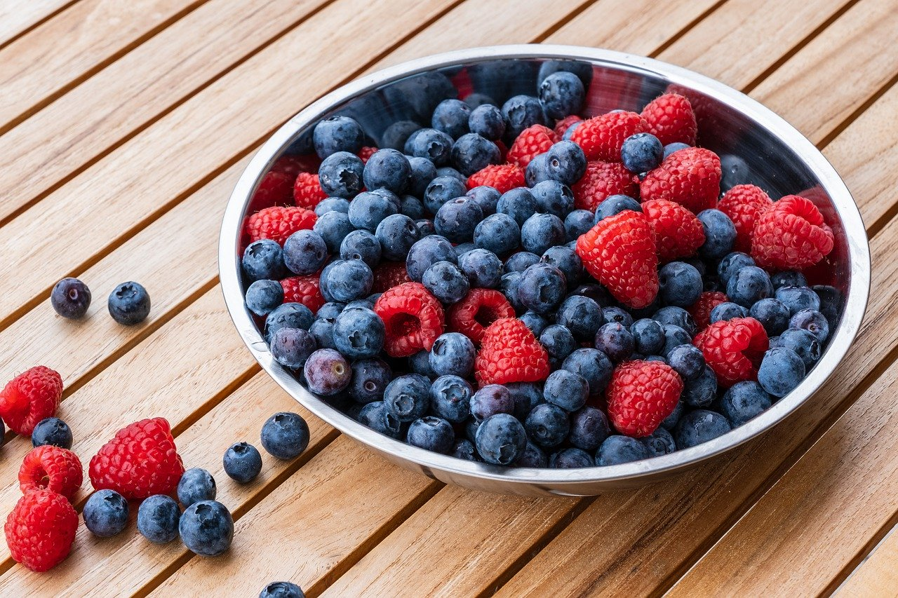 raspberries, blueberry, fruit