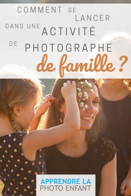 activité de photographe de famille