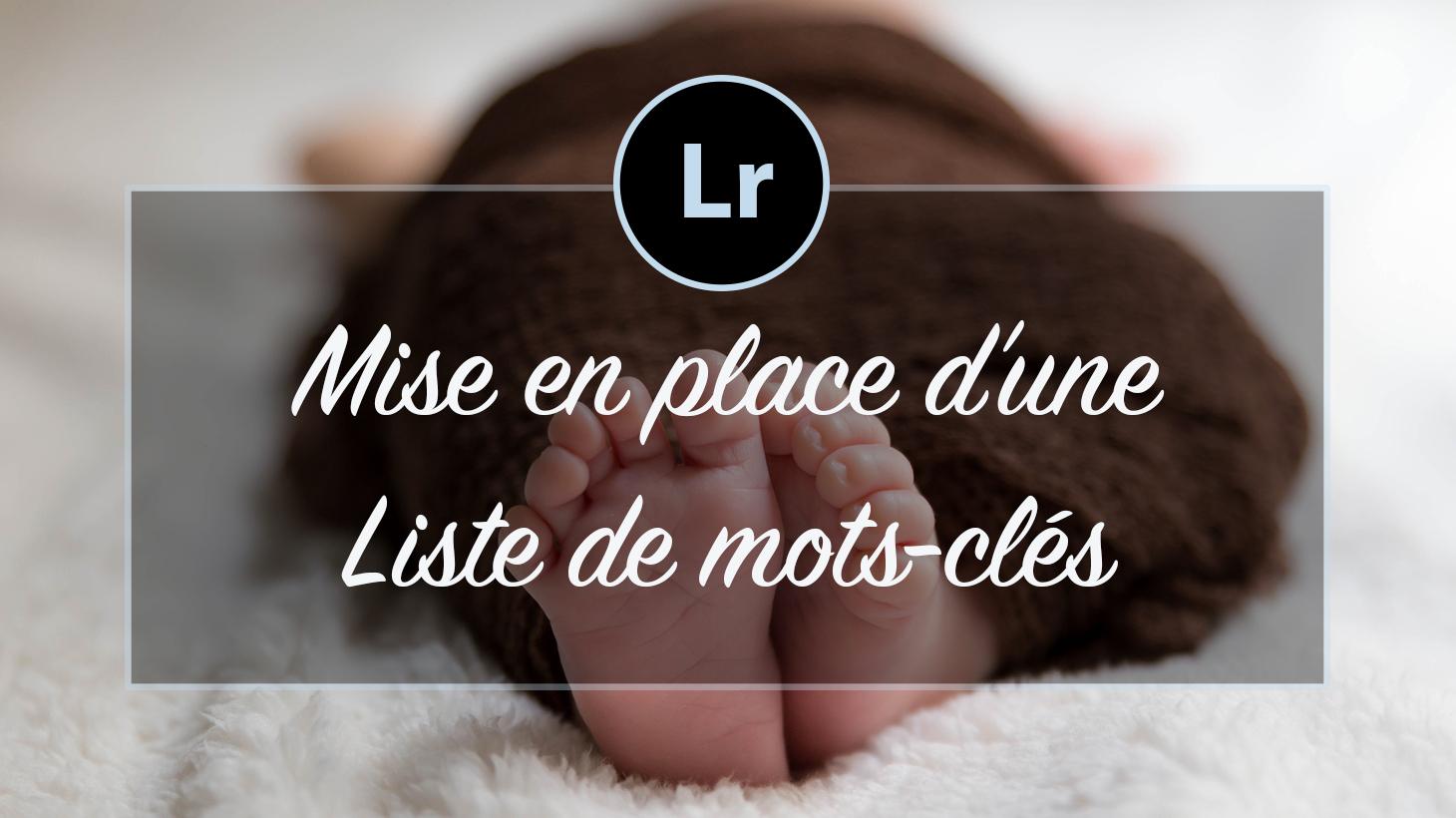 [VIDEO] – Mise en place d'une liste de mots-clés Lightroom