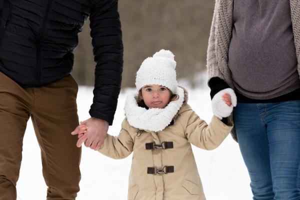 Photo enfant dans la neige