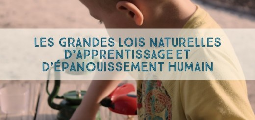 lois naturelles d'apprentissage