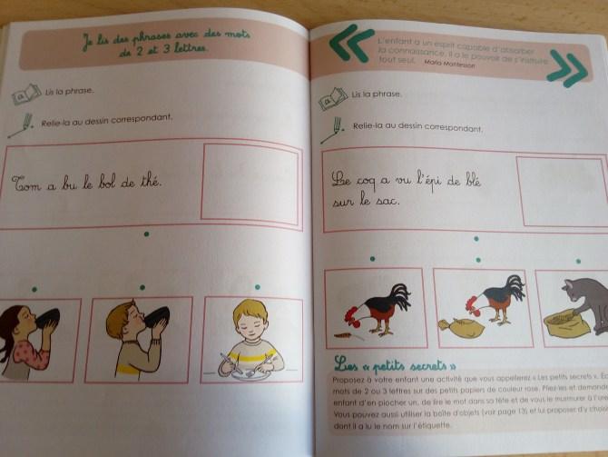 activités montessori pour apprendre à lire
