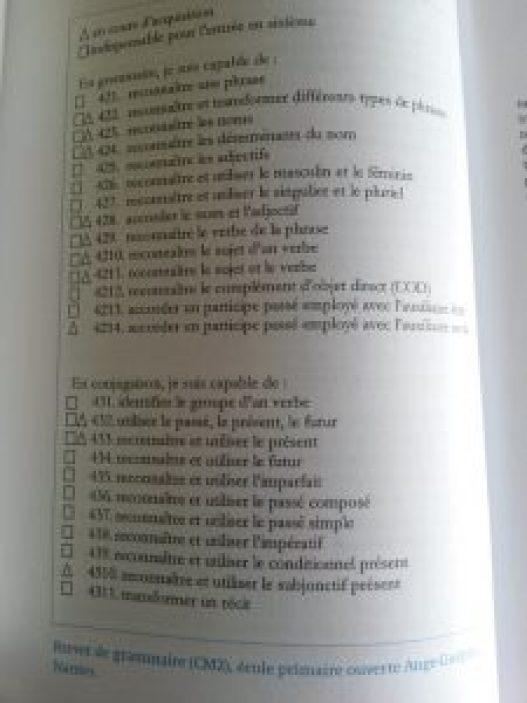 brevet de grammaire freinet