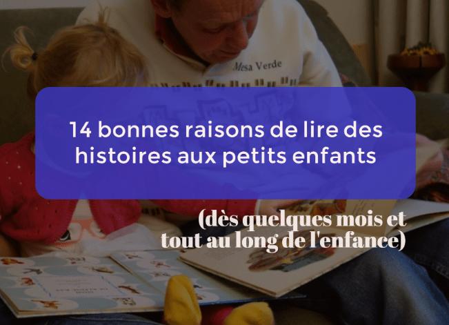 lire des histoires aux petits enfants