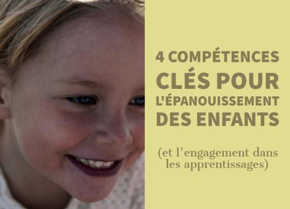 compétences clés épanouissement enfants