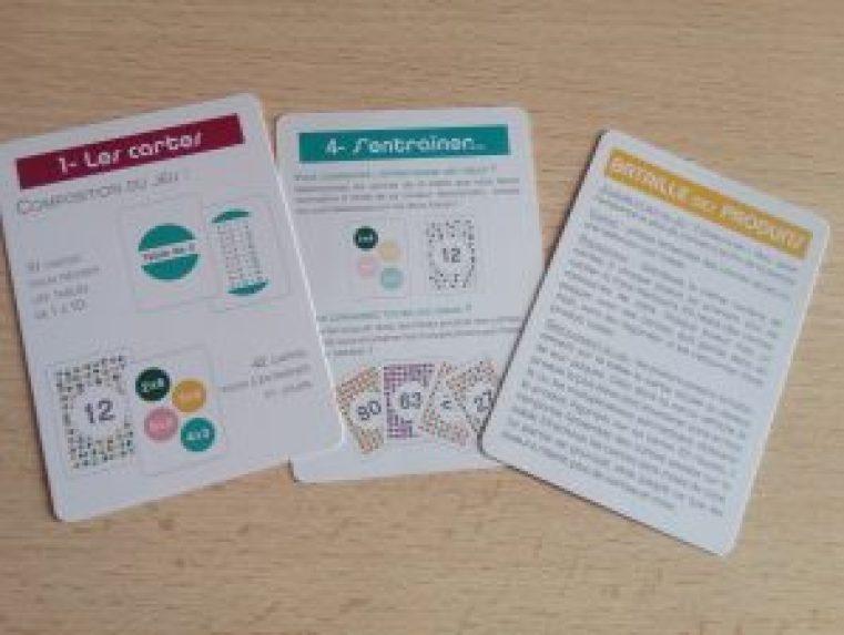 jeu cartes apprendre tables de multiplication