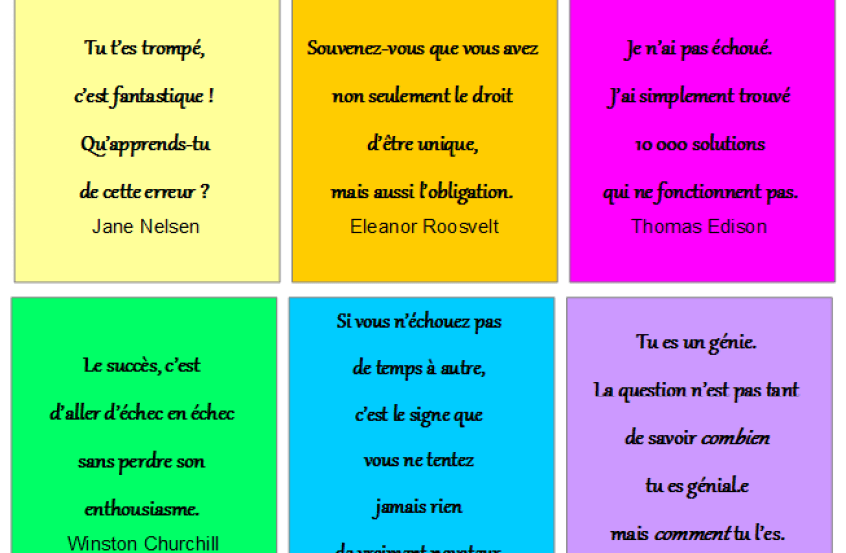 R visions motivation 12 cartes avec des citations - Comment prendre confiance en soi au lit ...