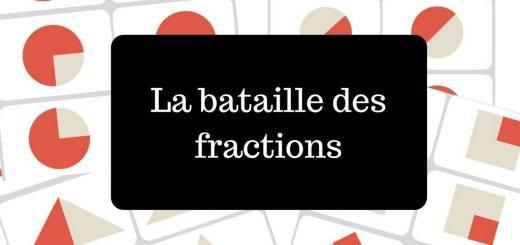 La bataille des fractions jeu maths