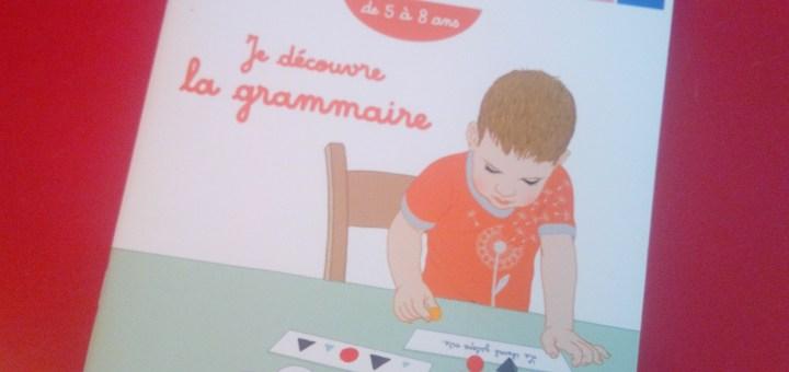 montessori grammaire cahier