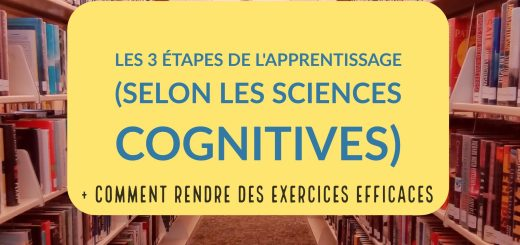 apprentissage sciences cognitives