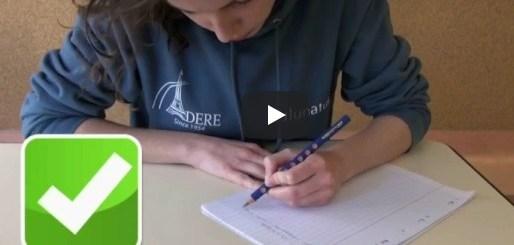 écriture gaucher