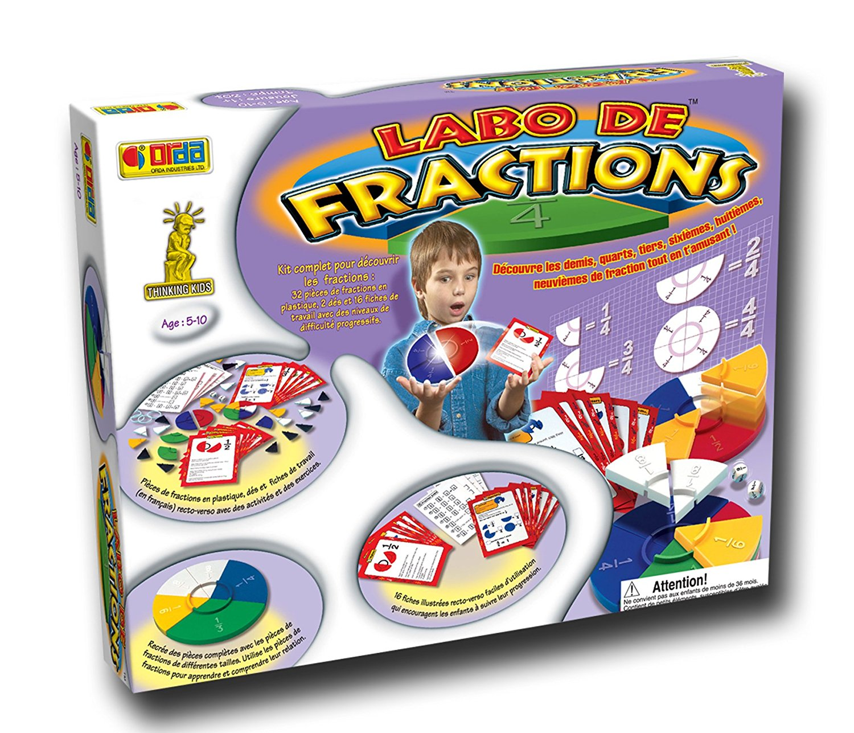 labo de fractions jeu enfants