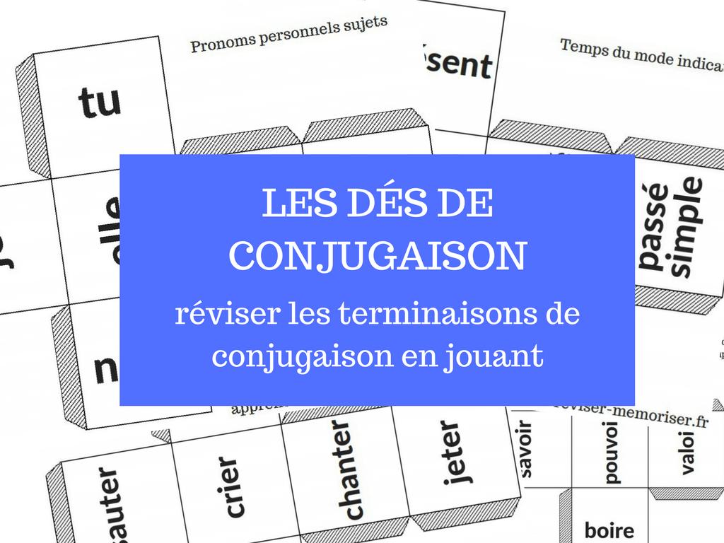Les dés de conjugaison jeu apprendre conjugaison