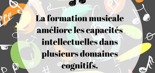 La formation musicale améliore les capacités intellectuelles dans plusieurs domaines cognitifs.