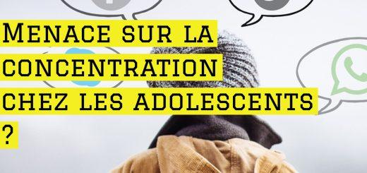 Menace sur la concentration chez les adolescents
