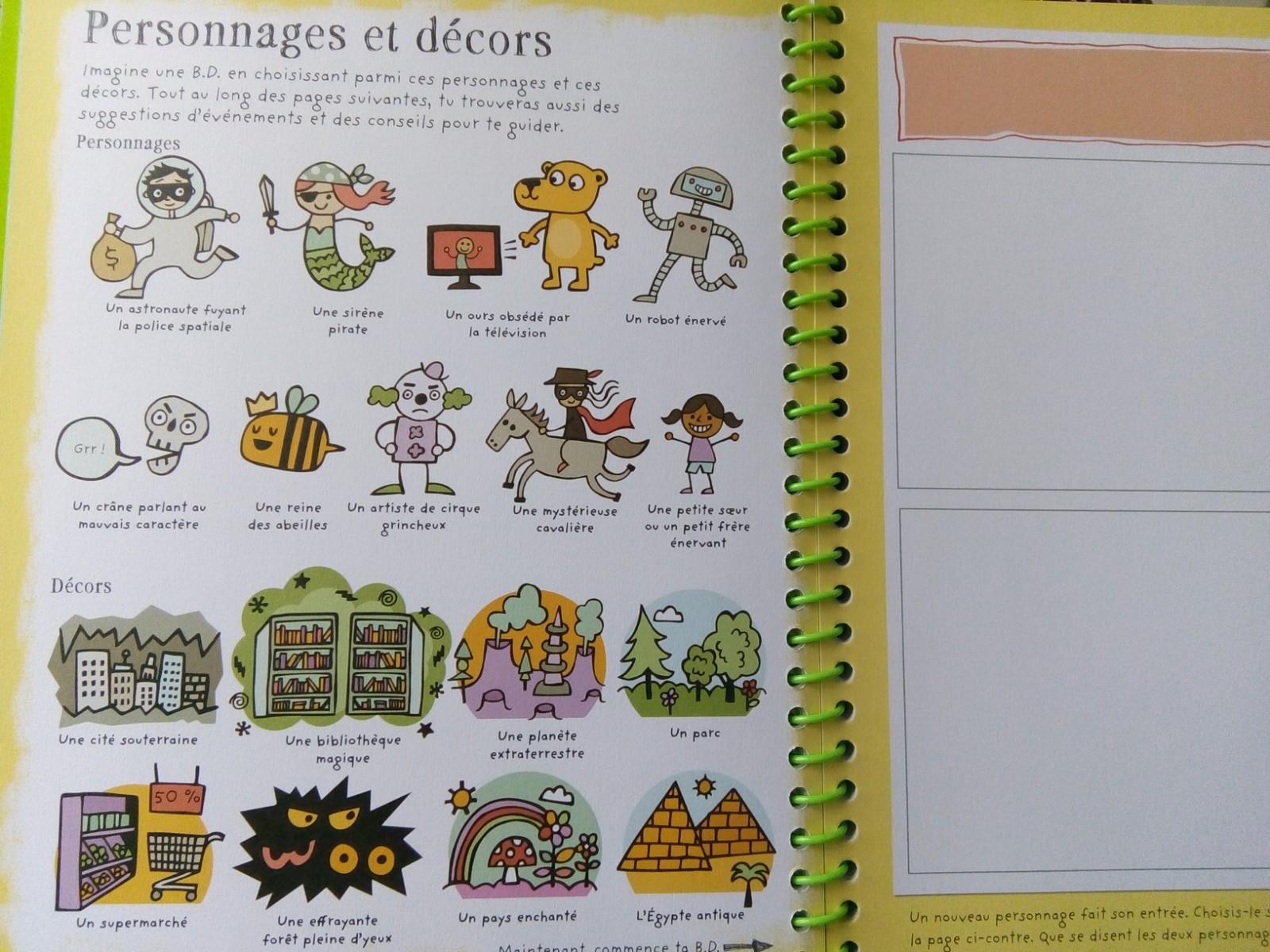 cahier apprendre faire bande dessinée enfants