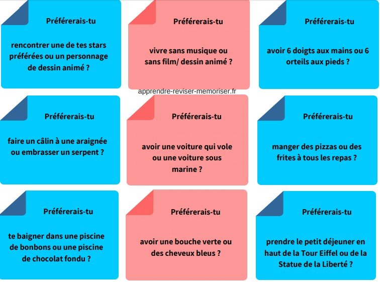 cartes questions enfants
