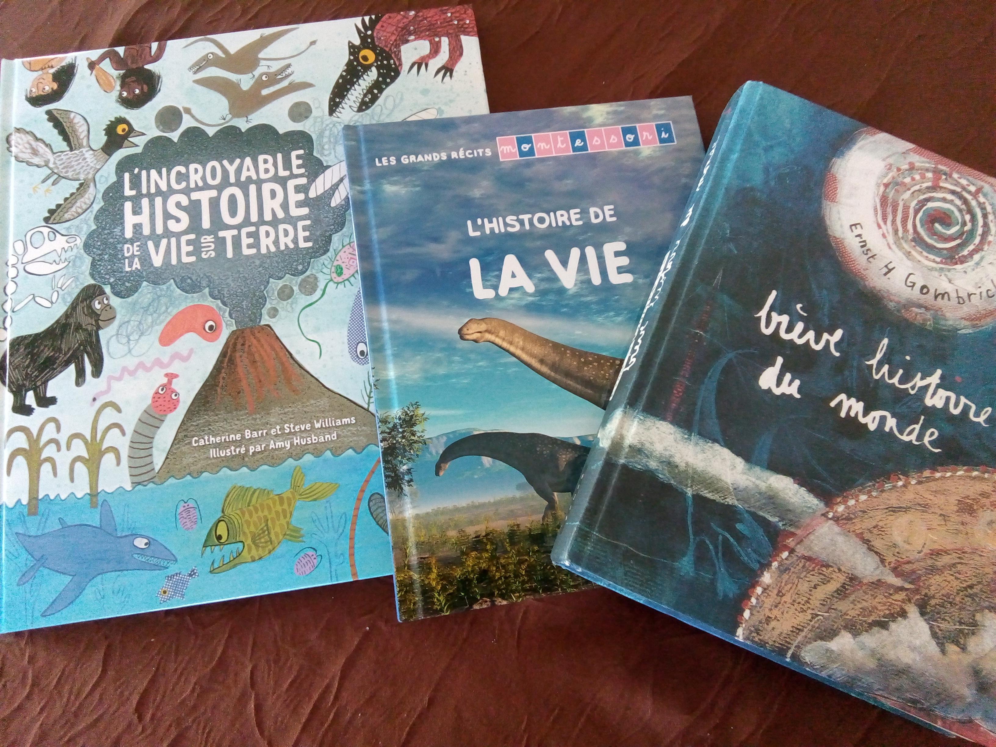 livres enfants histoire vie sur terre