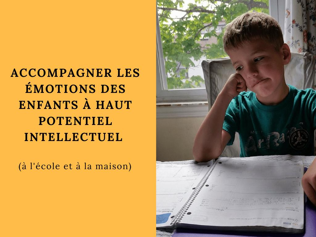 émotions des enfants à Haut Potentiel Intellectuel