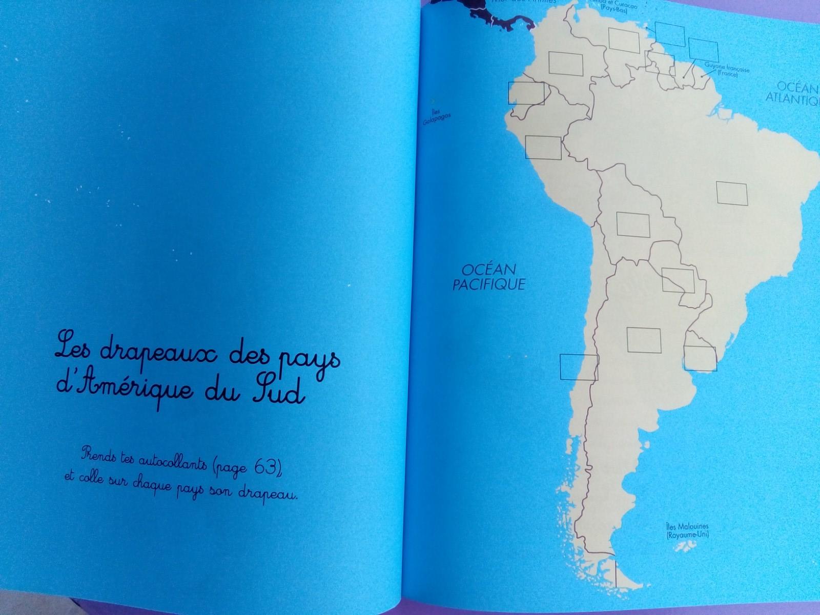 cahier géographie enfants montessori