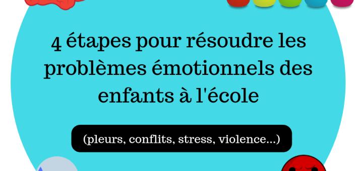 4 étapes pour résoudre les problèmes émotionnels des enfants à l'école