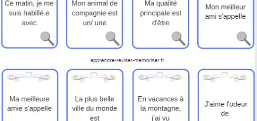 cartes jeu vocabulaire