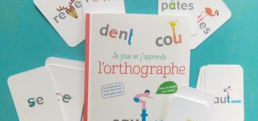cartes orthographe illustrée