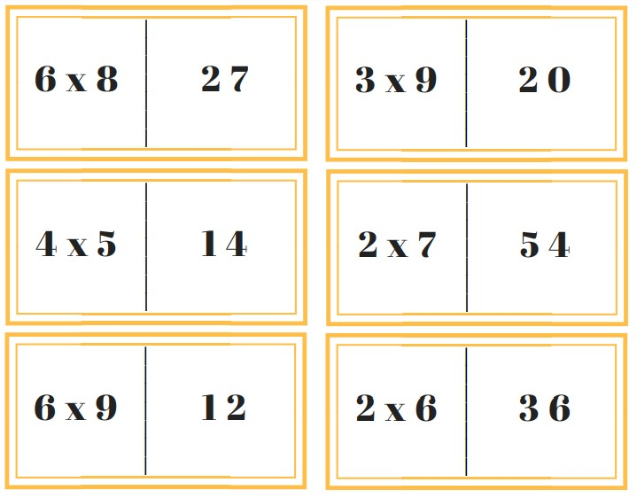 dominos de multiplication