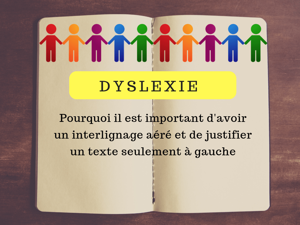 dyslexie texte interligne justifier