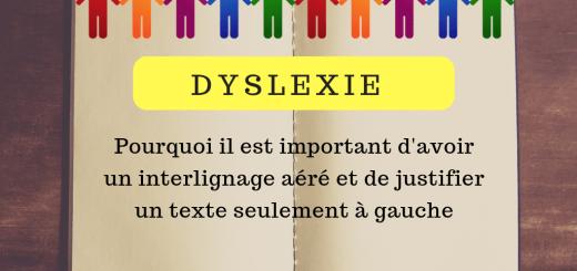 dyslexie texte interligne justifier