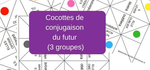 Cocottes de conjugaison du futur (3 groupes)