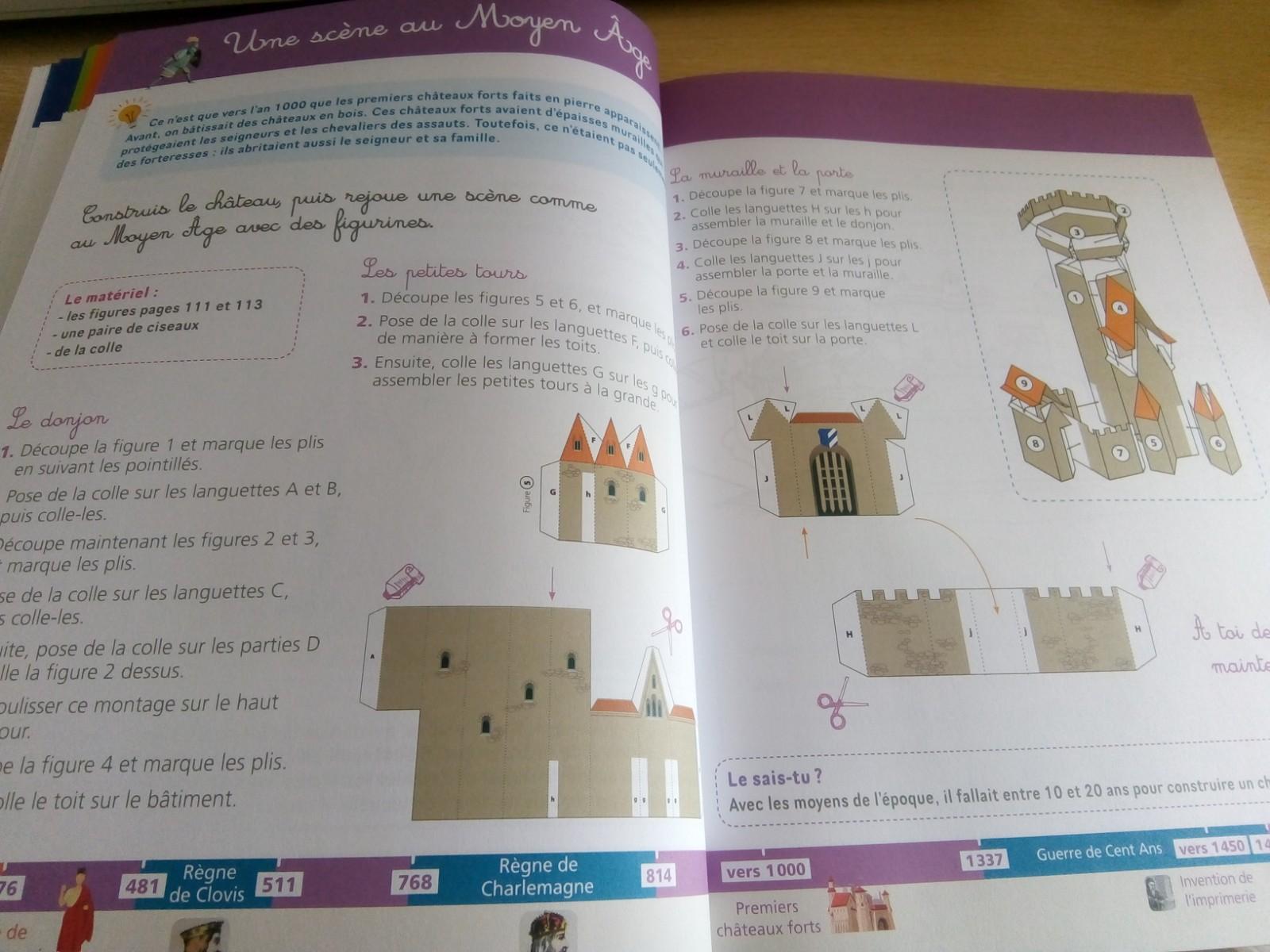 cahier activités histoire enfants